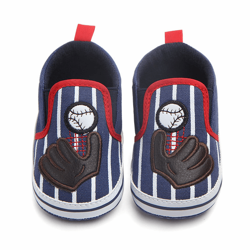 Baseball Baby Slip-On Sneaker Shoes<br>4 COLORS!