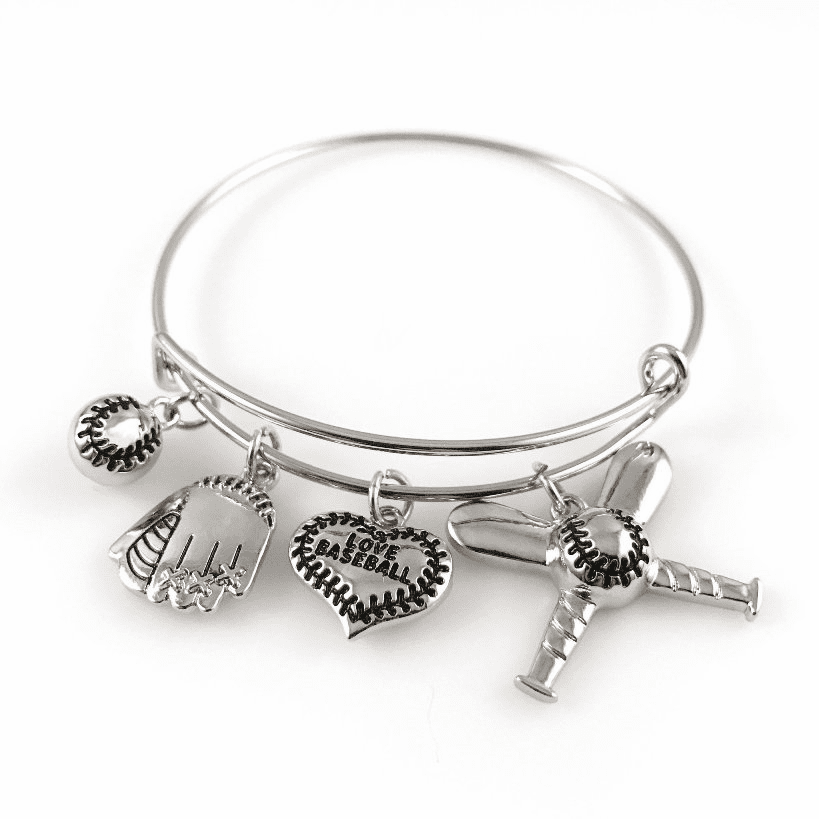 Baseball Bangle Bracelet<br>ONLY 3 LEFT!