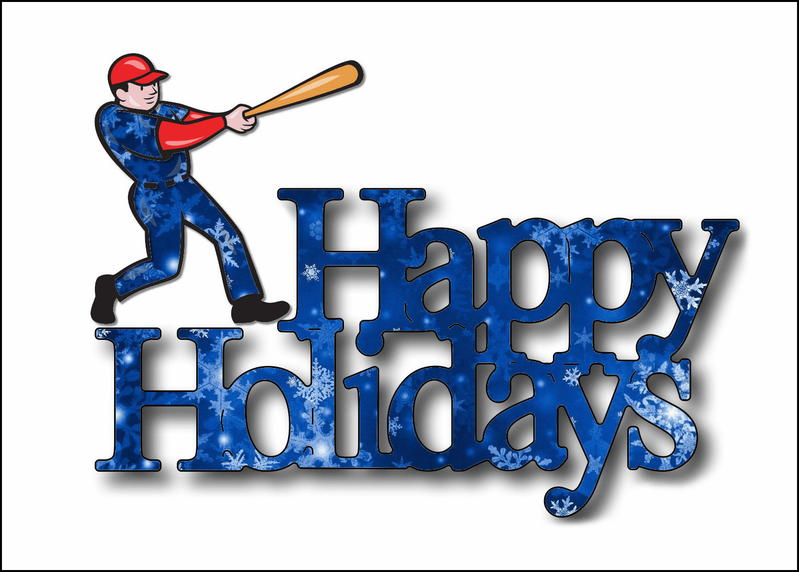 Baseball Batter Holiday Cards<br>PERSONALIZED FREE IF YOU BUY 5+ PACKS!
