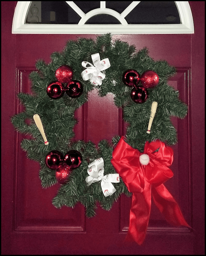 Baseball Christmas Wreath<br>ONLY 3 LEFT!
