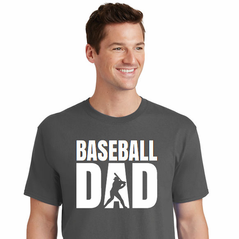 Baseball Dad Batter T-Shirt<br>Choose Your Colors<br>Adult S-4X