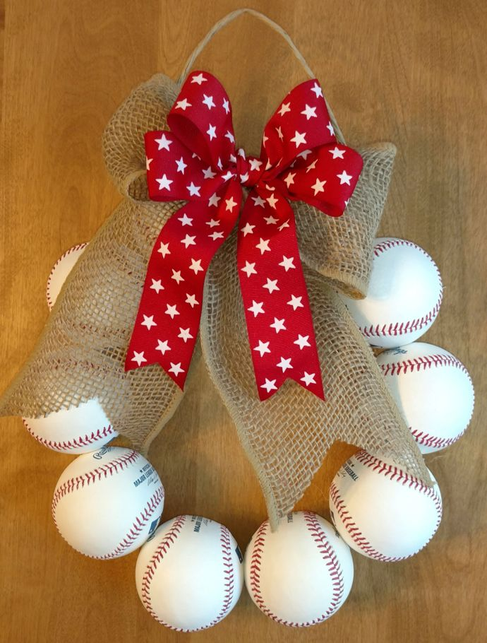 Old Used Baseballs Or New White Baseballs Wreath
