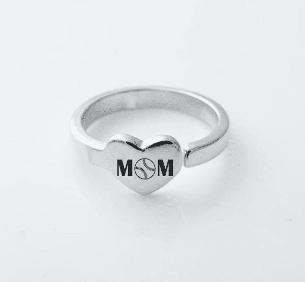 Baseball Mom Heart Ring<br>ONLY 6 LEFT!