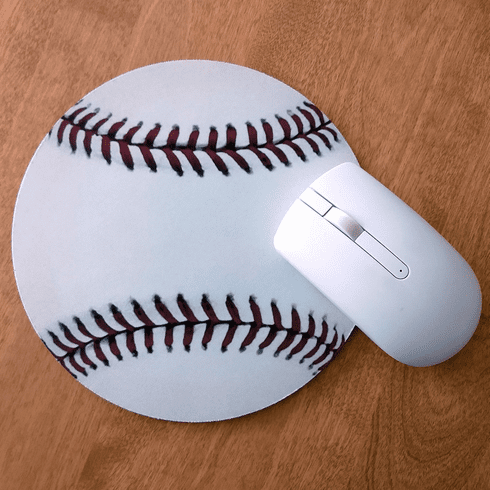 Baseball Shaped Mousepad
