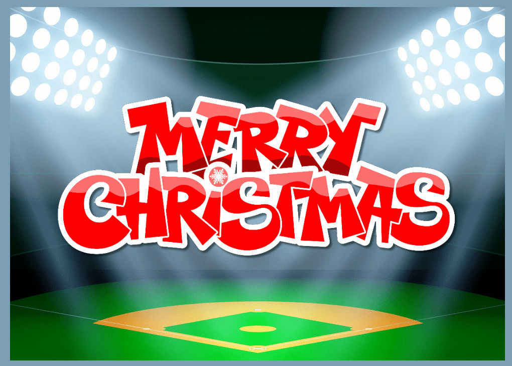 Baseball Stadium Christmas Cards<br>ONLY 2 PACKS LEFT!