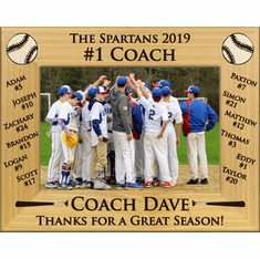 a6950a4b24af Baseball Team Roster  1 Coach Personalized Photo ...