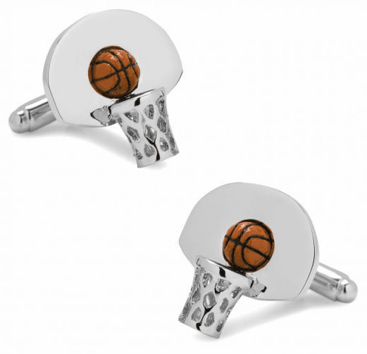 Basketball Hoop 3D Cufflinks