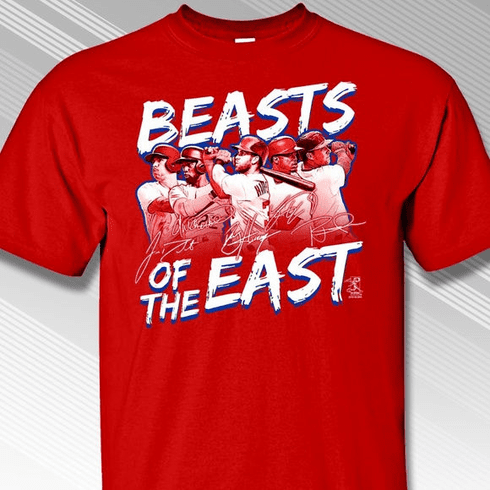 Beasts of the East Philadelphia T-Shirt<br>Short or Long Sleeve<br>Youth Med to Adult 4X