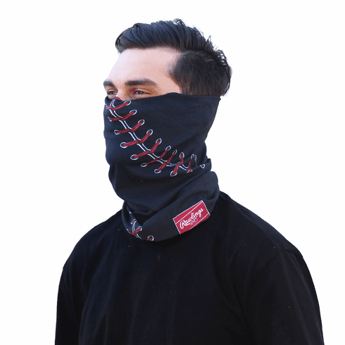 Black Baseball Stitch Gaiter by Rawlings<br>ONLY 1 LEFT!