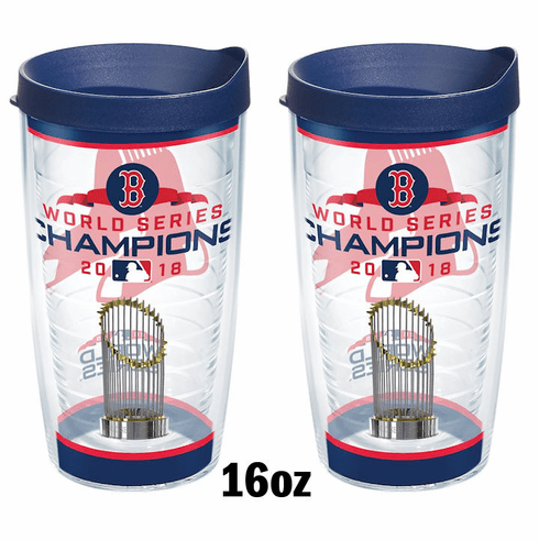 Boston Red Sox 2018 World Series Champions Cups with Lids by Tervis