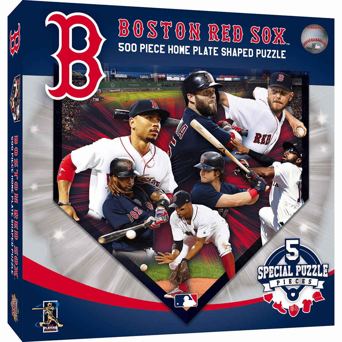 Boston Red Sox 500pc Home Plate Shaped Jigsaw Puzzle