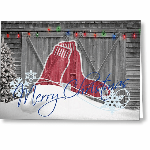 Personalized Boston Red Sox Christmas and Holiday Cards<br>5 DESIGNS!