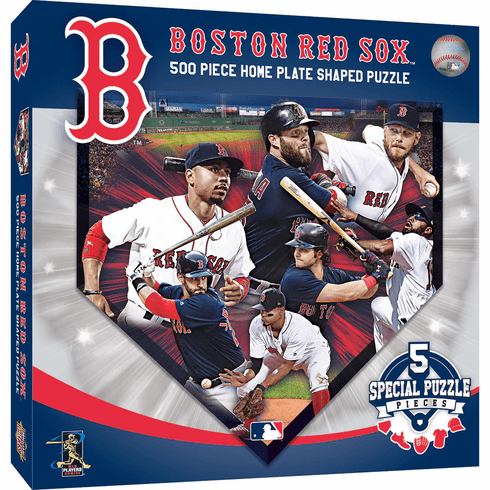 WEEKLY SPECIAL #4<br>Boston Red Sox Players Home Plate Shaped 500 Piece Baseball Puzzle<br>SPECIAL PRICING WHILE SUPPLIES LAST!