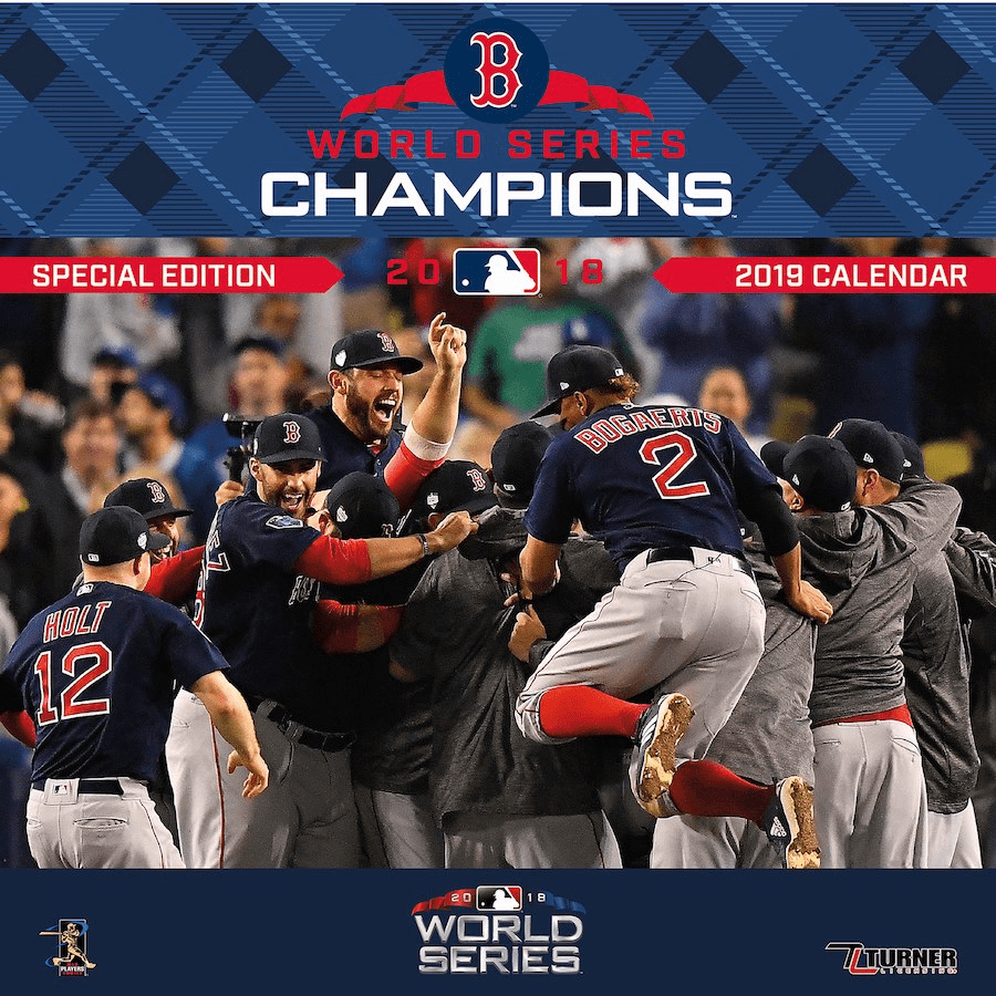 Boston Red Sox World Series Champions 2019 Wall Calendar<br>ONLY 1 LEFT!
