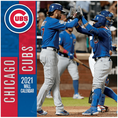 AFTER CHRISTMAS SALE!<br>Chicago Cubs Baseball 2021 Wall Calendar<br>ONLY 1 LEFT!