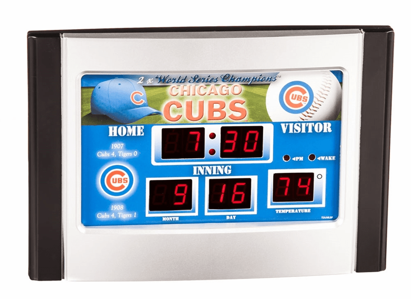 Chicago Cubs Baseball Scoreboard Desk Alarm Clock