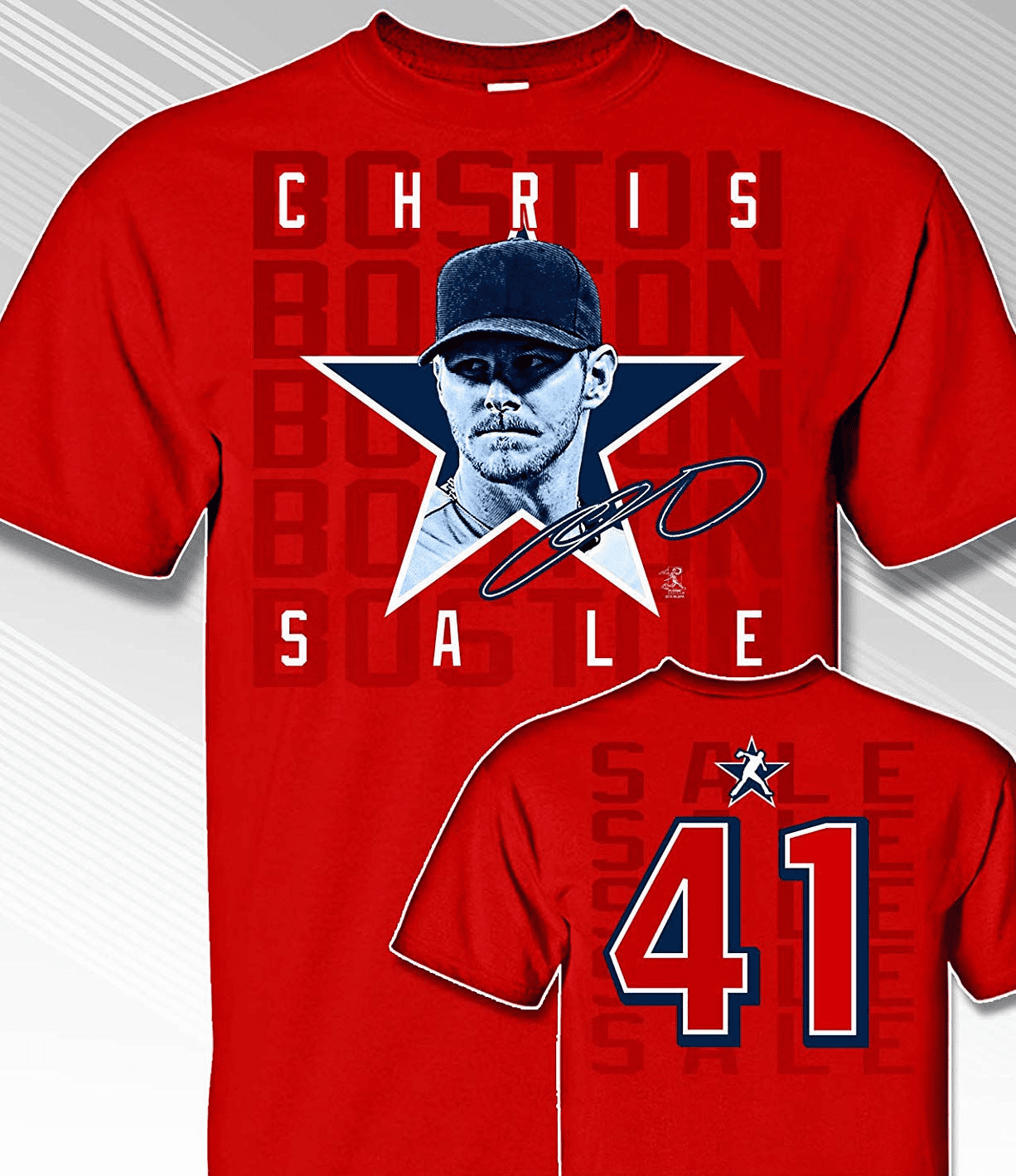 Chris Sale Star Power T-Shirt<br>Short or Long Sleeve<br>Youth Med to Adult 4X