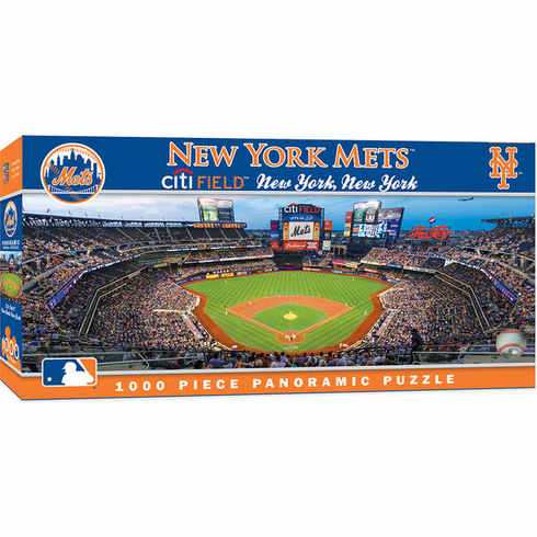WEEKLY SPECIAL #9<br>New York Mets 1000 Piece Panoramic Baseball Stadium Puzzle<br>LESS THAN 6 LEFT!