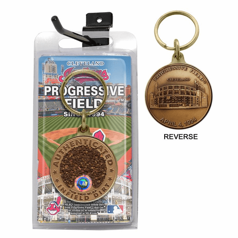 Cleveland Indians Progressive Field Bronze Infield Dirt Keychain<br>ONLY 2 LEFT!