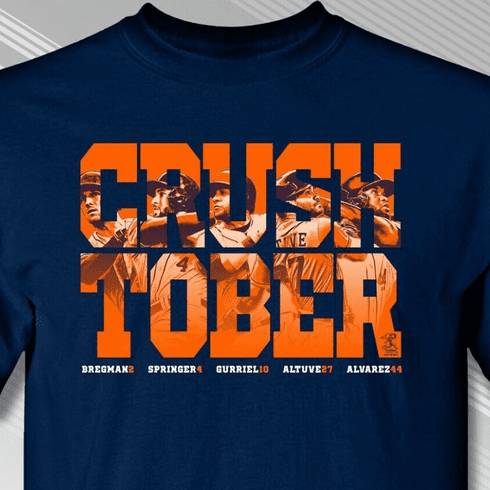 CRUSH TOBER Houston T-Shirt<br>Short or Long Sleeve<br>Youth Med to Adult 4X
