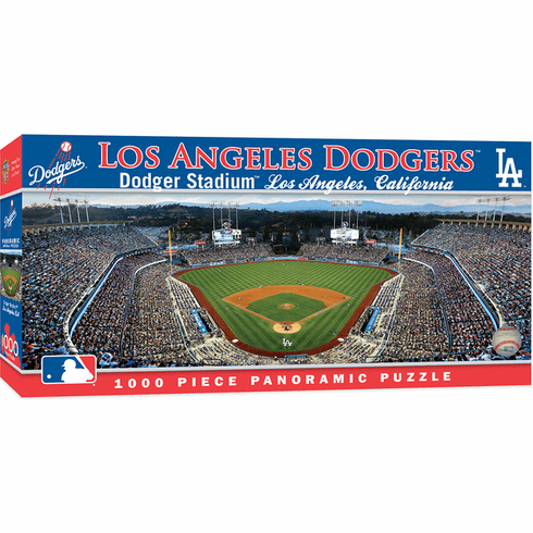 Dodger Stadium Los Angeles Dodgers 1000pc Panoramic Puzzle<br>ONLY 9 LEFT!