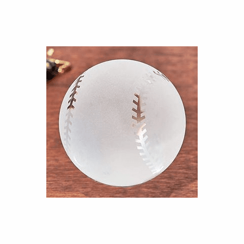 Frosted Crystal Glass Baseball Paperweight