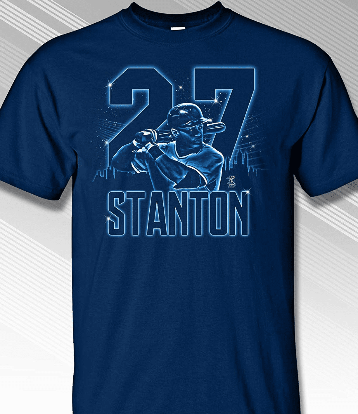 Giancarlo Stanton New York Neon Glow T-Shirt<br>Short or Long Sleeve<br>Youth Med to Adult 4X