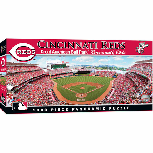 Cincinnati Reds 1000 Piece Panoramic Baseball Stadium Puzzle<br>PRE-ORDER NOW FOR LATE NOVEMBER DELIVERY!
