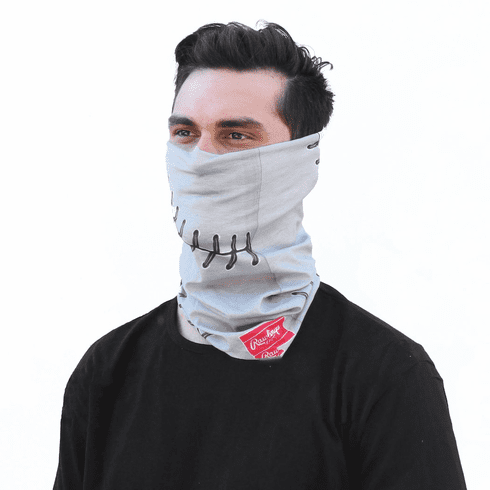 Grey Baseball Stitch Gaiter by Rawlings<br>ONLY 1 LEFT!