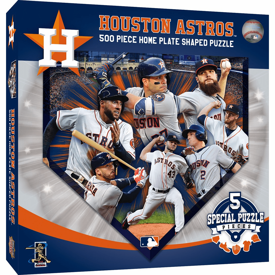 Houston Astros 500pc Home Plate Shaped Jigsaw Puzzle<br>ONLY 4 LEFT!