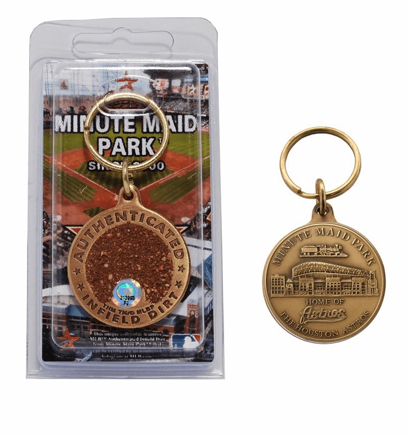 Houston Astros Minute Maid Park Bronze Infield Dirt Keychain<br>ONLY 2 LEFT!