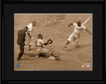 Jackie Robinson Steals Home 11x14 Framed Lithograph