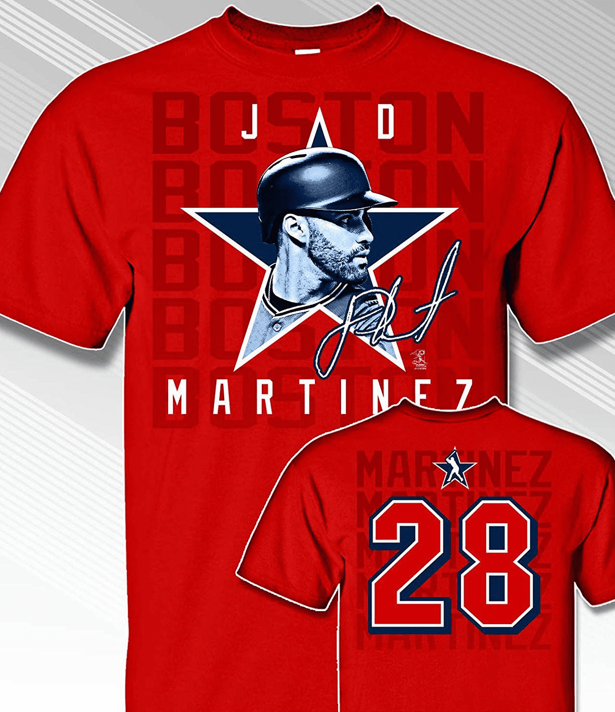 JD Martinez Star Power T-Shirt<br>Short or Long Sleeve<br>Youth Med to Adult 4X