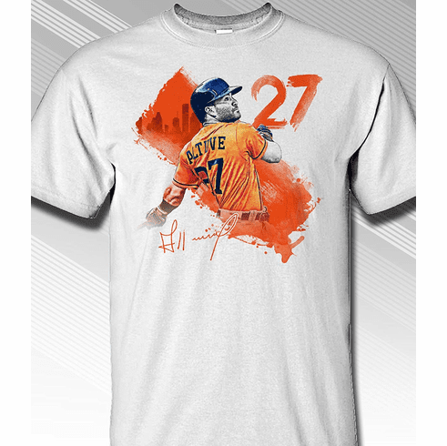 quality design 6ca7f a66e9 Jose Altuve Houston #27 Paint Splash T-Shirt<br>Short or ...