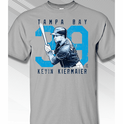 Kevin Kiermaier Rough Cut Tampa Bay 39 T-Shirt<br>Short or Long Sleeve<br>Youth Med to Adult 4X