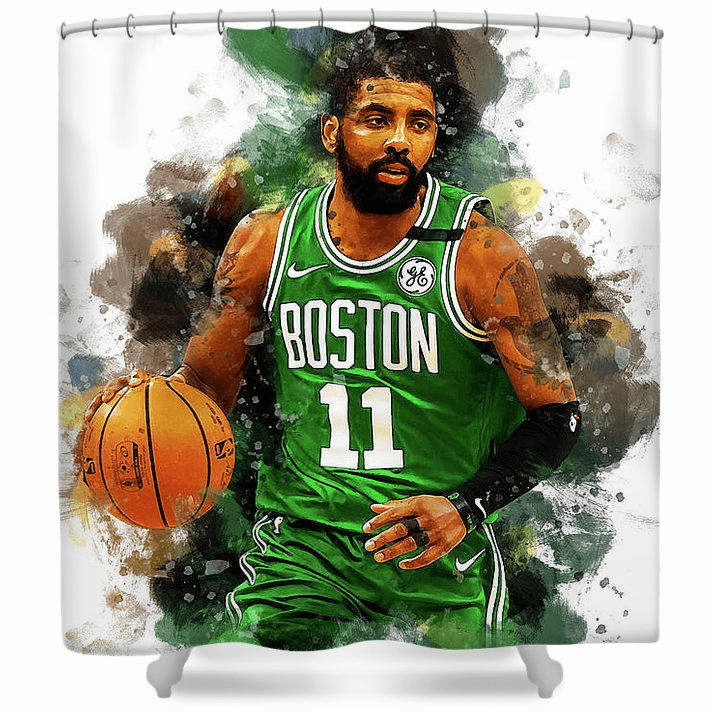 Kyrie Irving Boston Celtics Shower Curtain