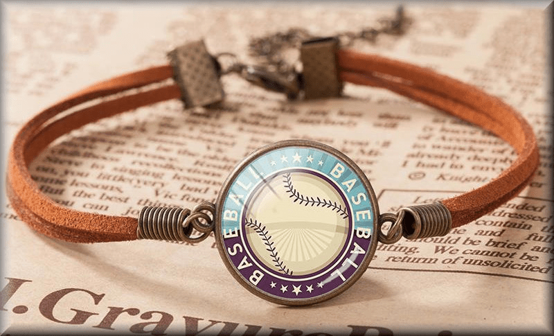 Leather Baseball Bracelets<br>2 DESIGNS!