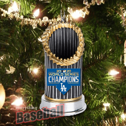 Los Angeles Dodgers 2020 World Series Champions Resin Trophy Ornament<br>IN STOCK NOW!