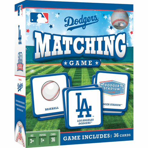 Los Angeles Dodgers Baseball Matching Game<br>ONLY 5 LEFT!