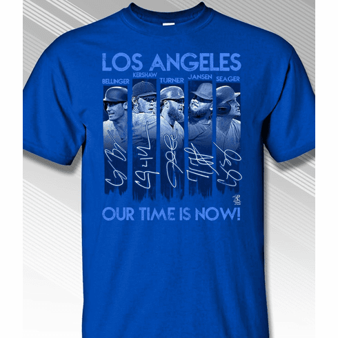 Los Angeles Our Time is Now T-Shirt<br>Short or Long Sleeve<br>Youth Med to Adult 4X