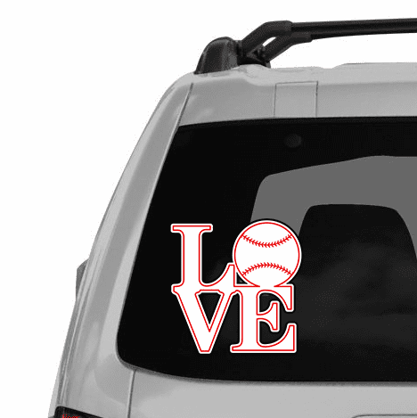 Love Baseball Decal<br>ONLY 3 LEFT!