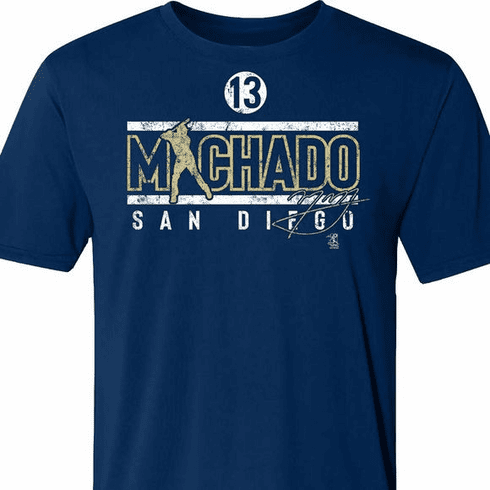 Manny Machado San Diego 13 T-Shirt<br>Short or Long Sleeve<br>Youth Med to Adult 4X