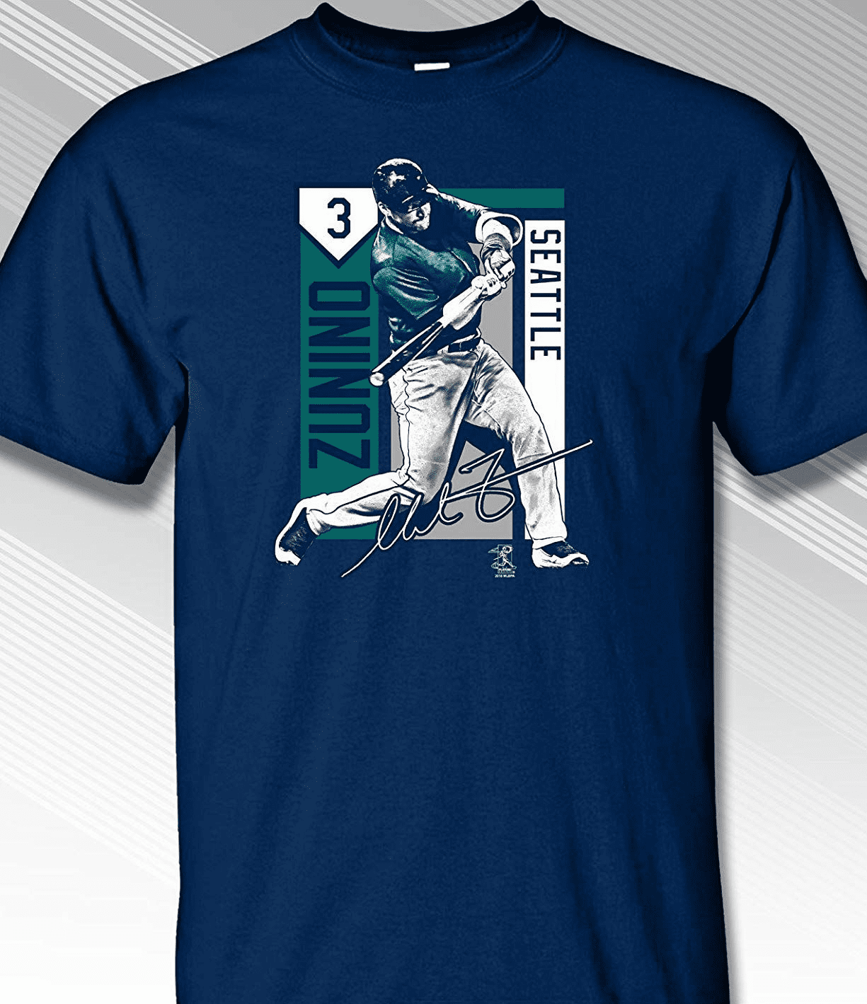 Mike Zunino Seattle Colorblock T-Shirt<br>Short or Long Sleeve<br>Youth Med to Adult 4X