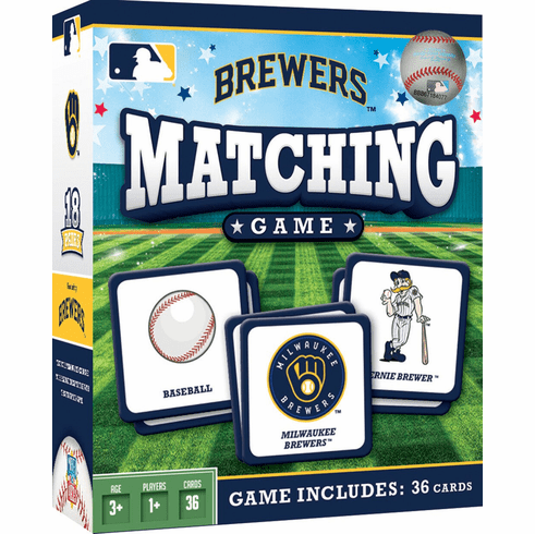 Milwaukee Brewers Baseball Matching Game<br>ONLY 3 LEFT!