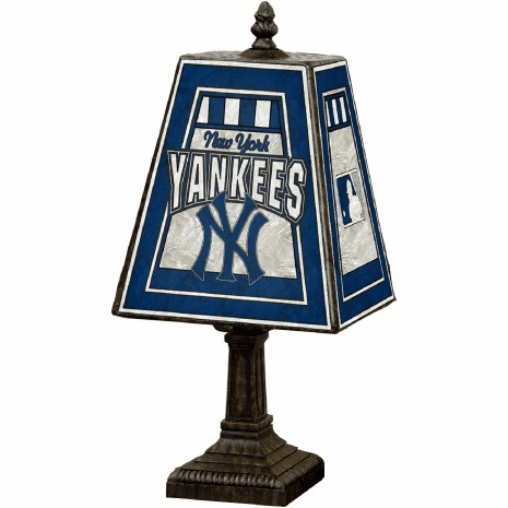 MLB Baseball Team Art Glass Table Lamp