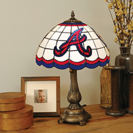 MLB Baseball Team Tiffany Stained Glass Table Lamp