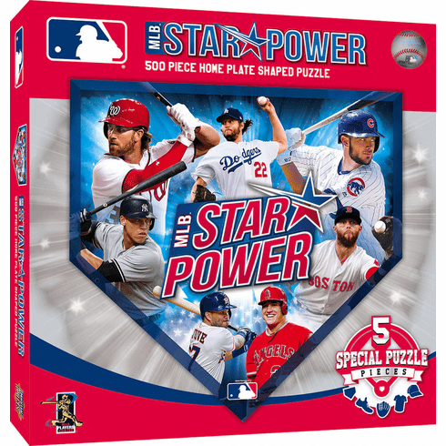 WEEKLY SPECIAL #3<br>MLB Star Power Home Plate Shaped 500 Piece Baseball Puzzle<br>LESS THAN 4 LEFT!