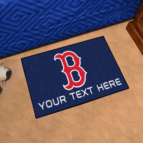 MLB Team Logo 19x30 Starter Rugs<br>Blank or Personalized!
