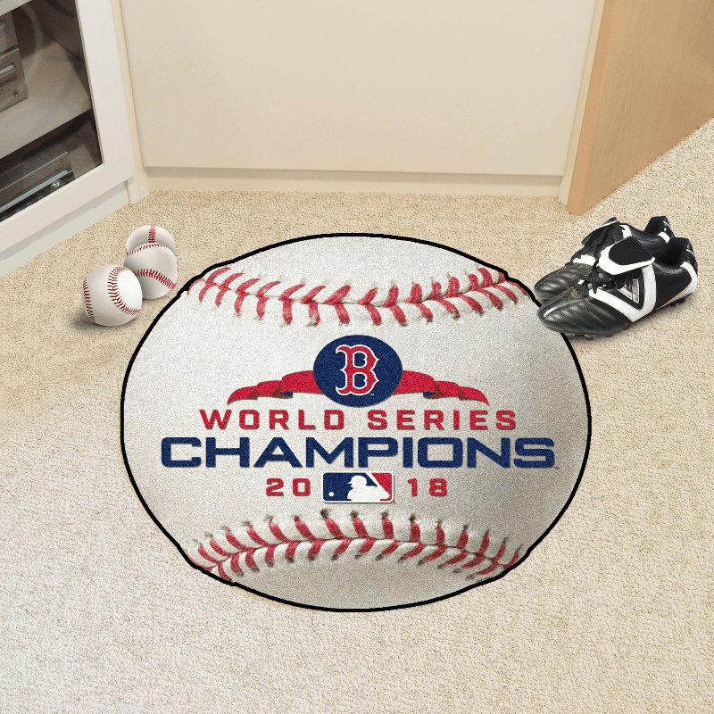 "MLB Team Logo 27"" Round Baseball Rugs"
