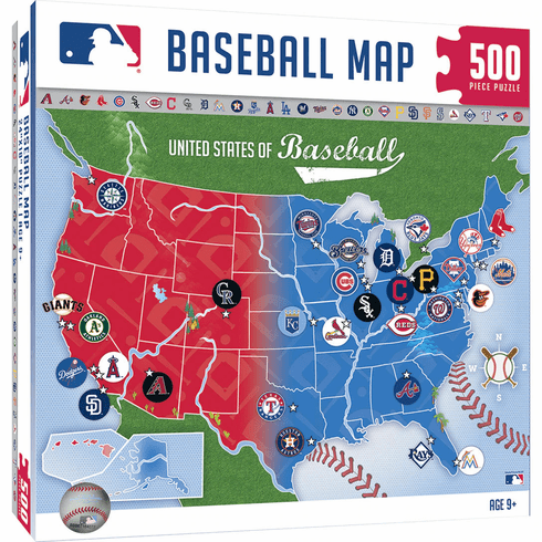 WEEKLY SPECIAL #1<br>MLB USA Baseball Map 500 Piece Jigsaw Puzzle<br>LESS THAN 6 LEFT!